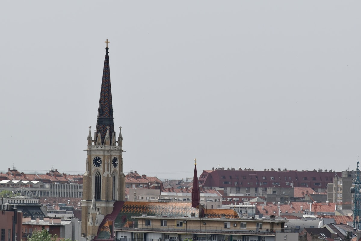 kilise kulesi, Şehir, Kule, Bina, kapsayan, Simgesel Yapı, Kilise, mimari, Katedrali, açık havada