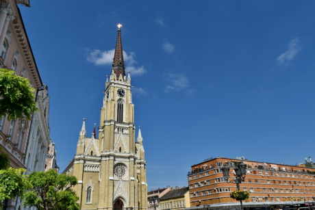 downtown, tourist attraction, church, cathedral, religion, tower, architecture, building, old, city
