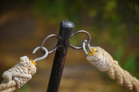 hook, fastener, rope, nature, upclose, wood, outdoors, strength, color, knot