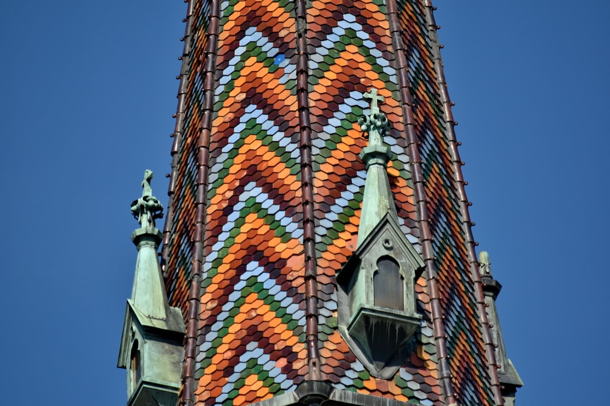 cathedral, catholic, church tower, colorful, tourist attraction, city, urban, tower, architecture, building