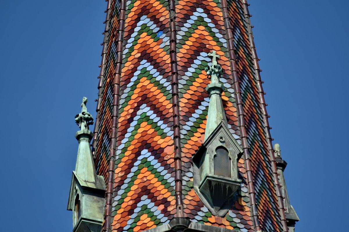 katedrála, Katolícka, veža kostola, farebné, turistickou atrakciou, mesto, Urban, veža, Architektúra, budova