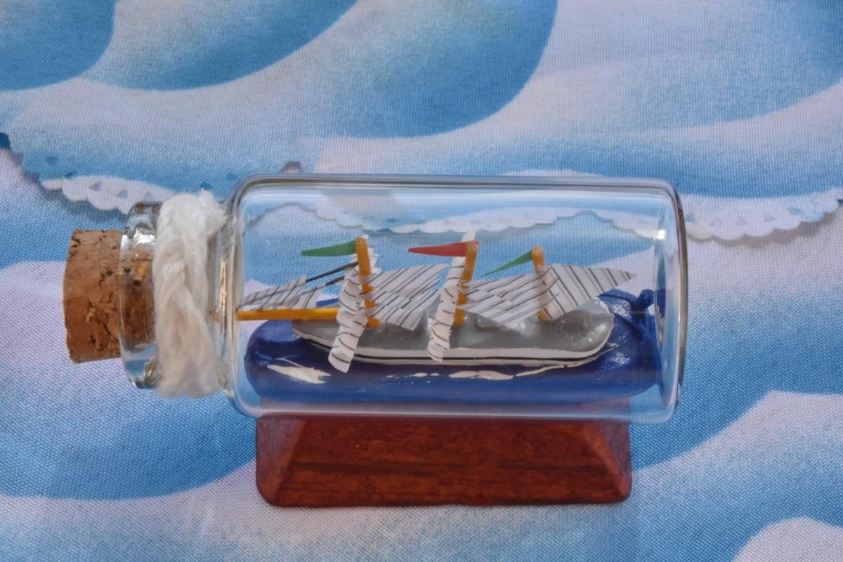 пляшка, корабель, іграшка, Скло, контейнер, колір, розкіш, Натюрморт, дизайн, Деревина