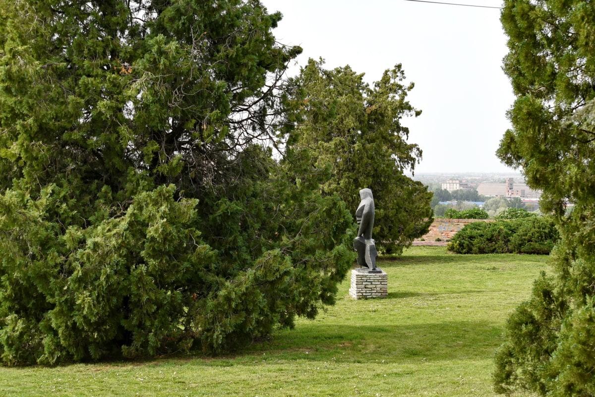 Garten, Statue, Natur, Struktur, Gras, Park, Landschaft, Sommer, im freien, Flora