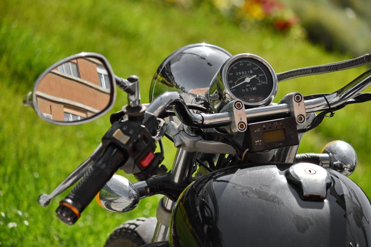 ogledalo, motocikl, upravljač, vozila, kolo, na otvorenom, trava, pogon, natjecanje, rekreacija