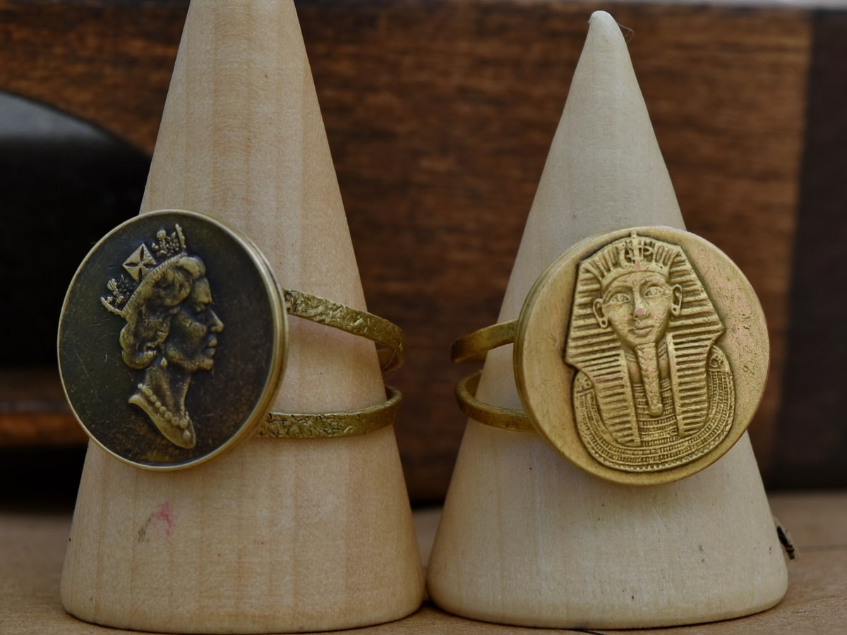 craft, Egypt, England, handmade, rings, wood, still life, traditional, wooden, old