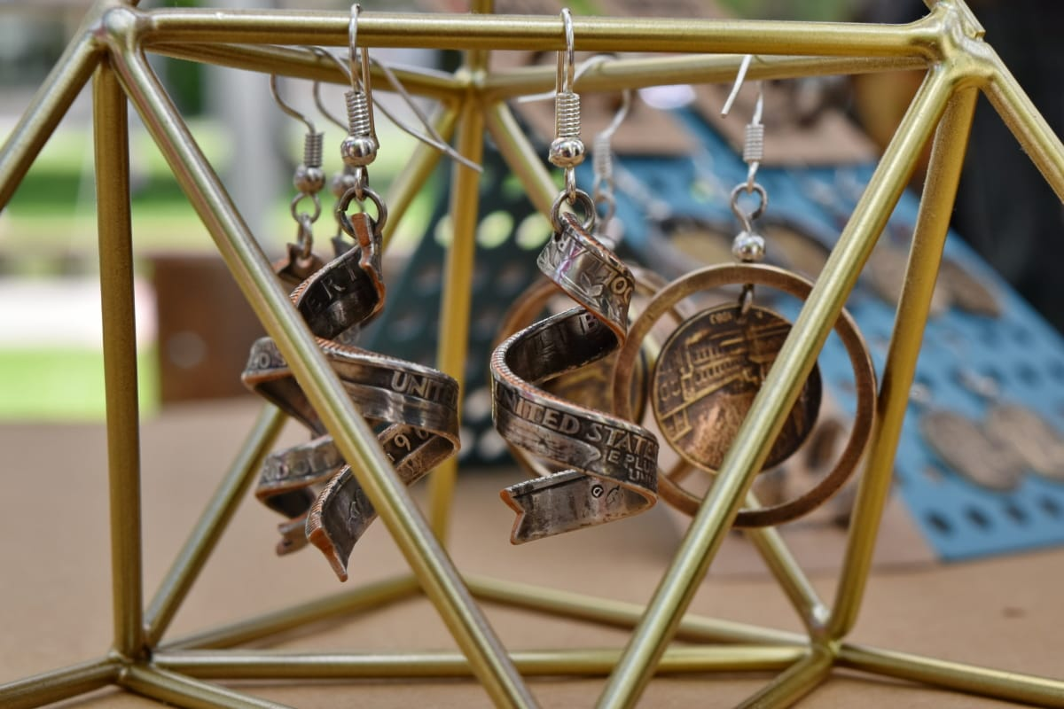 copper, handmade, jewelry, metal, wheel, outdoors, swing, hanging, steel, equipment
