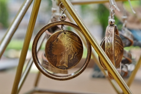 brass, copper, craft, handmade, jewelry, wood, nature, outdoors, leaf, luxury