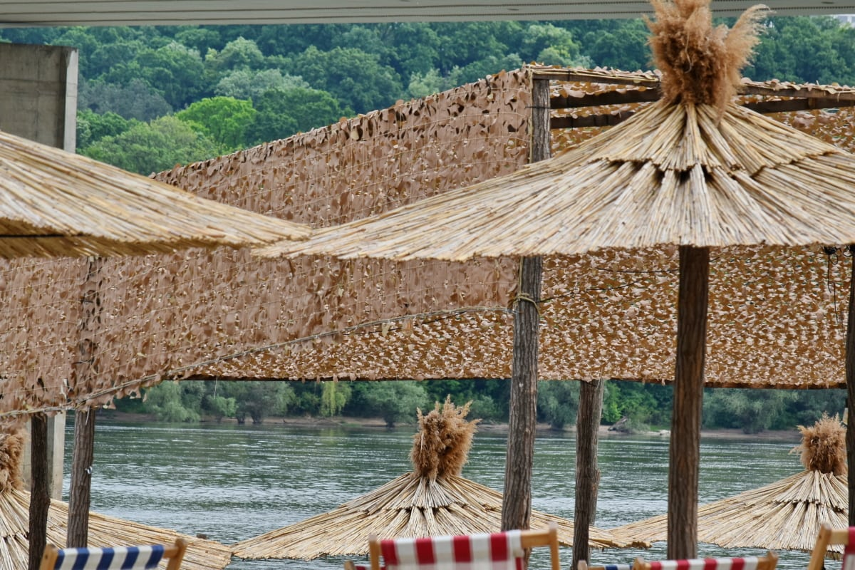 summer season, summer time, resort, water, covering, tropical, beach, vacation, wooden, wood
