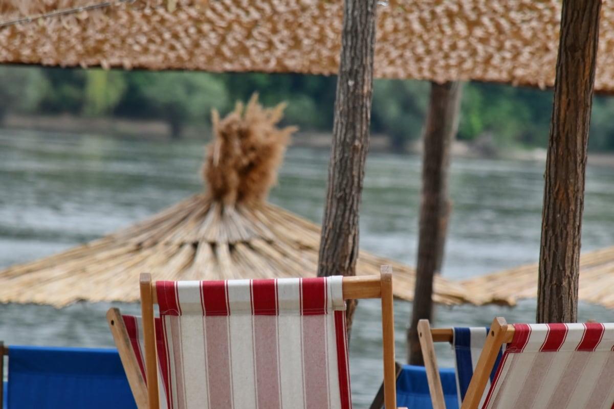 beach, furniture, summer season, tropical, leisure, relaxation, chair, water, summer, wood