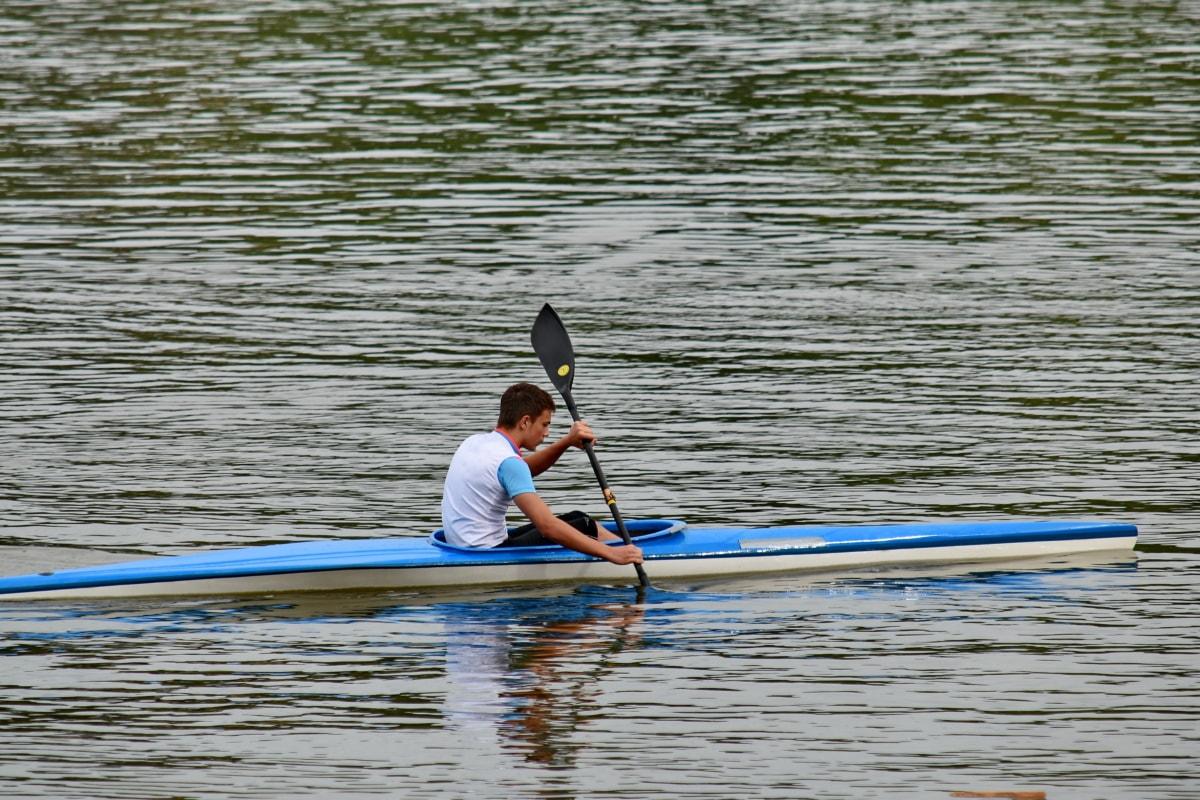 카누, 물, 노, 경쟁, 강, 레크리에이션, 선수, 카약, 사람들, 패 들