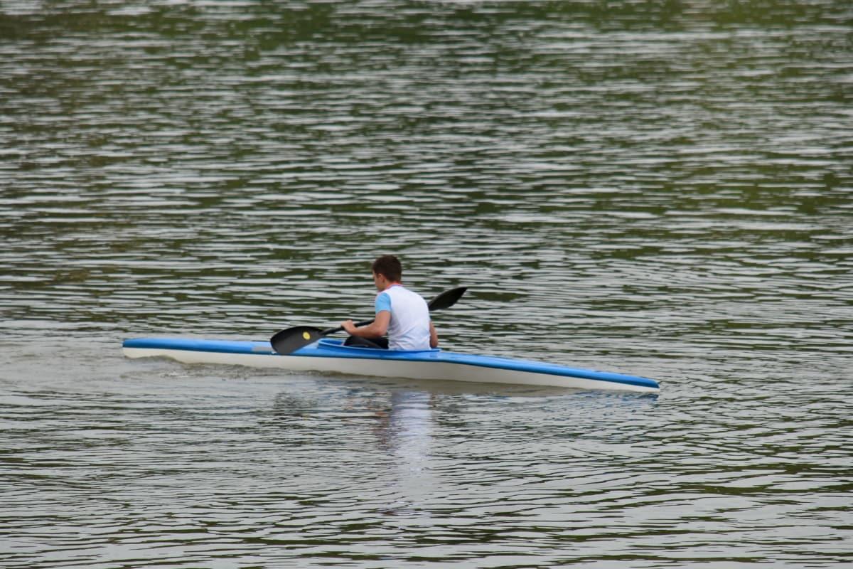 natjecanje, veslo, veslanje, veslo, jezero, voda, kanu, rijeka, rekreacija, kajak