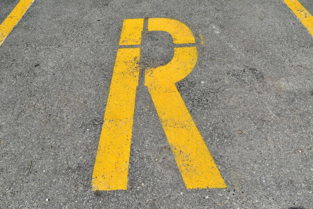 parking, parking lot, sign, warning, traffic, signal, street, pavement, asphalt, road