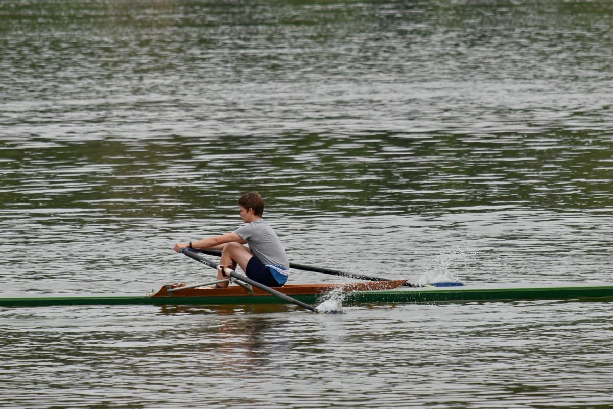 вода, река, греблото, състезание, гребло, конкуренцията, отдих, спортист, спорт, свободно време