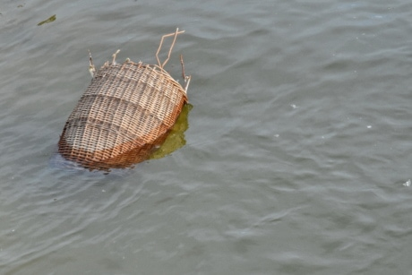 flood, garbage, river, wicker basket, water, nature, reflection, lake, outdoors, wet