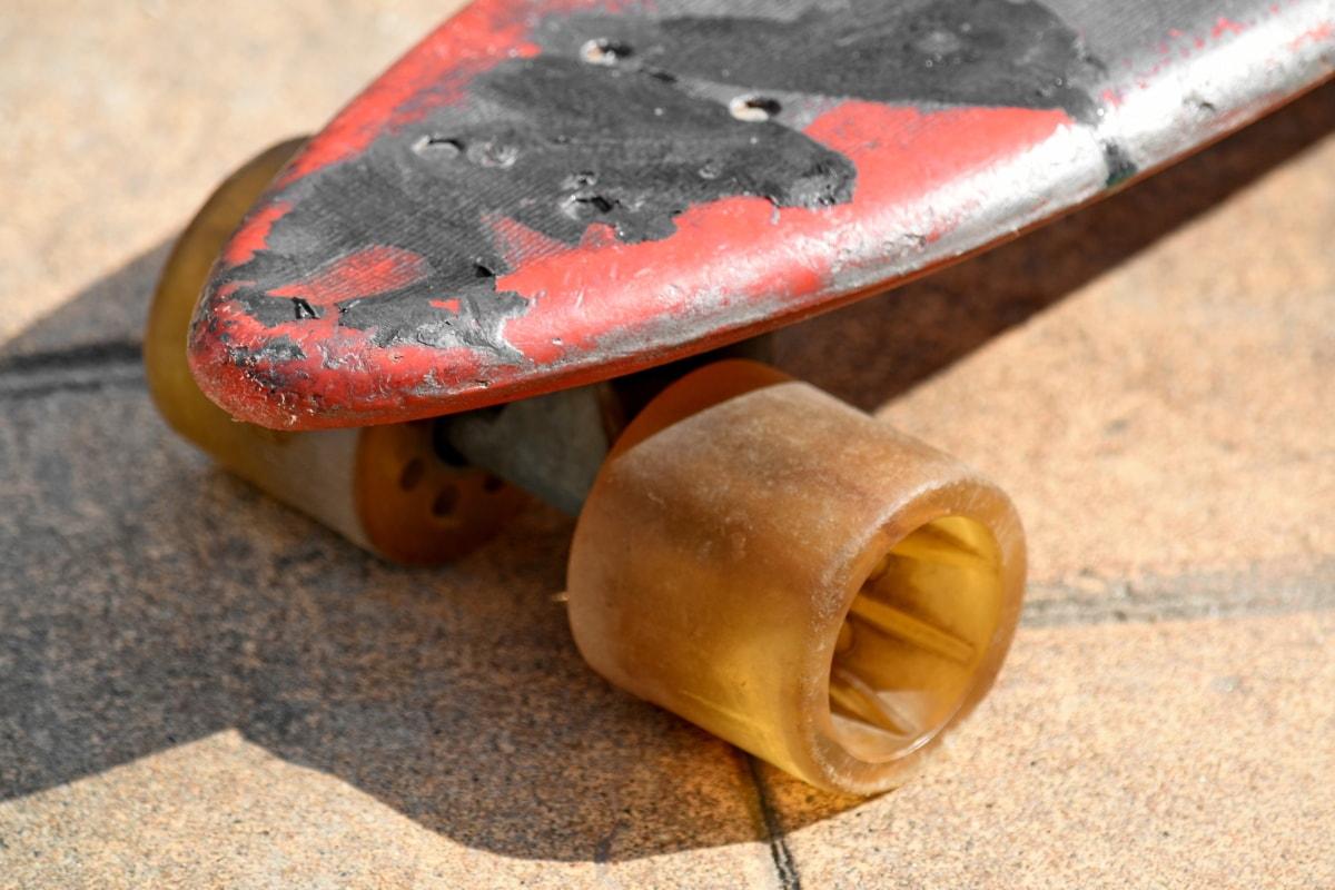 vecchio, vecchio stile, skateboard, giocattolo, ruota, legno, cibo, natura morta, spiaggia, natura