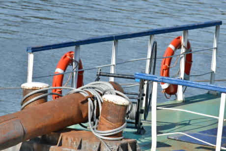 ocean, boat, watercraft, water, life preserver, float, sea, rope, ship, leisure