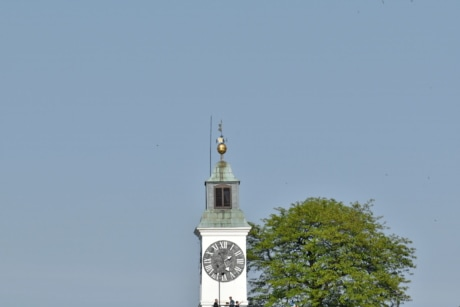 panorama, tourist attraction, architecture, tower, building, covering, outdoors, clock, old, daylight
