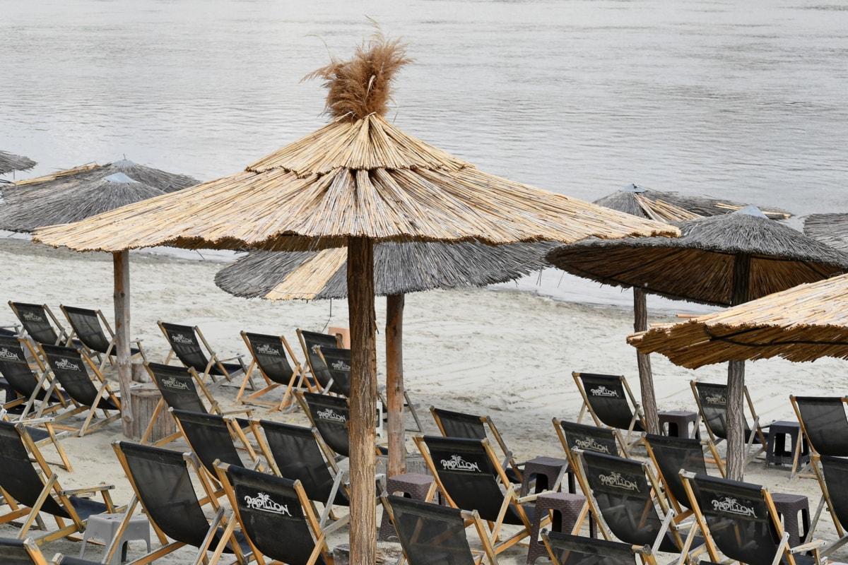 spiaggia, acqua, Tropical, vacanza, parasole, Resort, sabbia, Seashore, sedia, ombrello