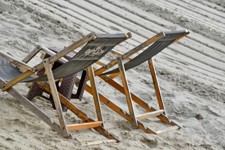sand, furniture, chair, seat, wood, beach, leisure, outdoors, winter, nature