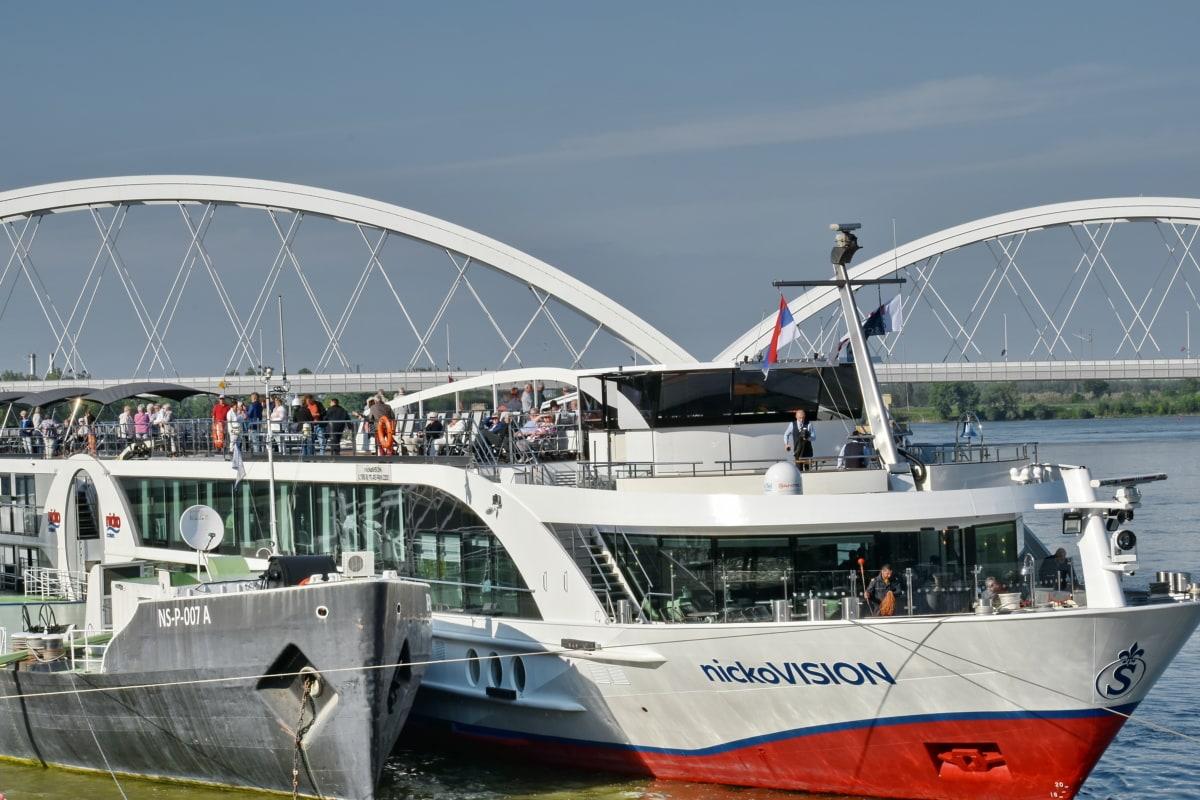 bro, cruiseskip, turisme, turistattraksjon, transportere, skipet, kjøretøy, sjøen, Yacht, seilbåt