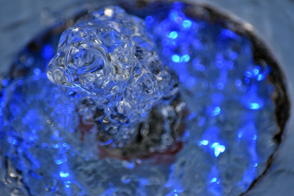 синій, фонтан, ілюстрація, світло, падіння, мокрий, міхур, сплеск, бірюза, дроплет