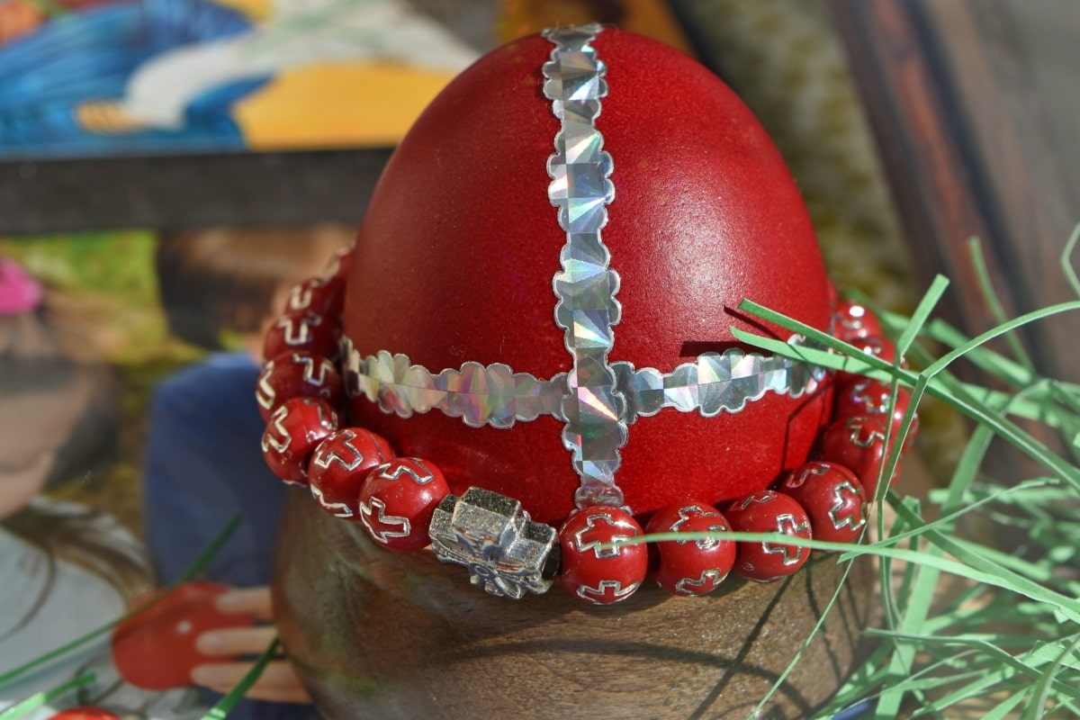 christianity, cross, easter, egg, red, decoration, holiday, celebration, traditional, season