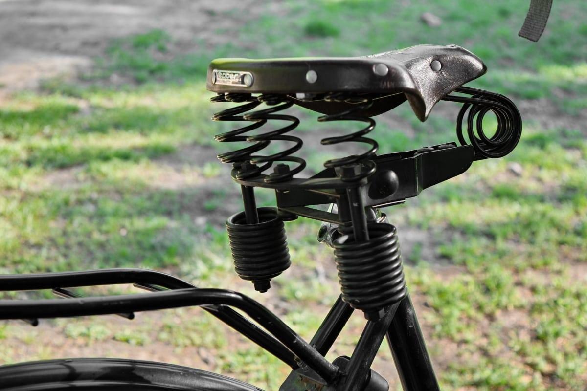 bicikala, koža, stari, sjedište, uređaj, na otvorenom, priroda, oprema, bicikl, trava