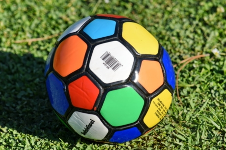 colourful, football, soccer ball, ball, soccer, game, sport, championship, leather, goal