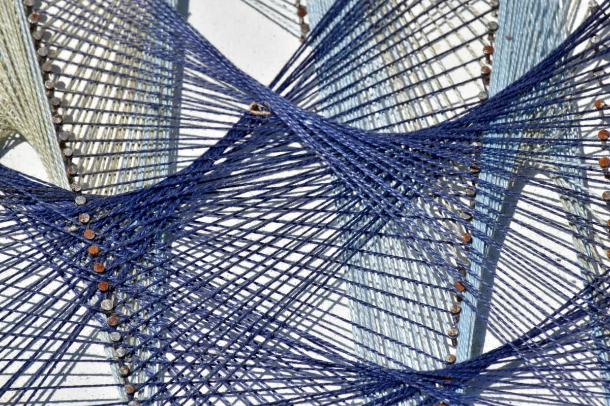 arte, detalle, geométrica, hecho a mano, cuerda, futurista, punto de vista, moderno, patrón de, diseño