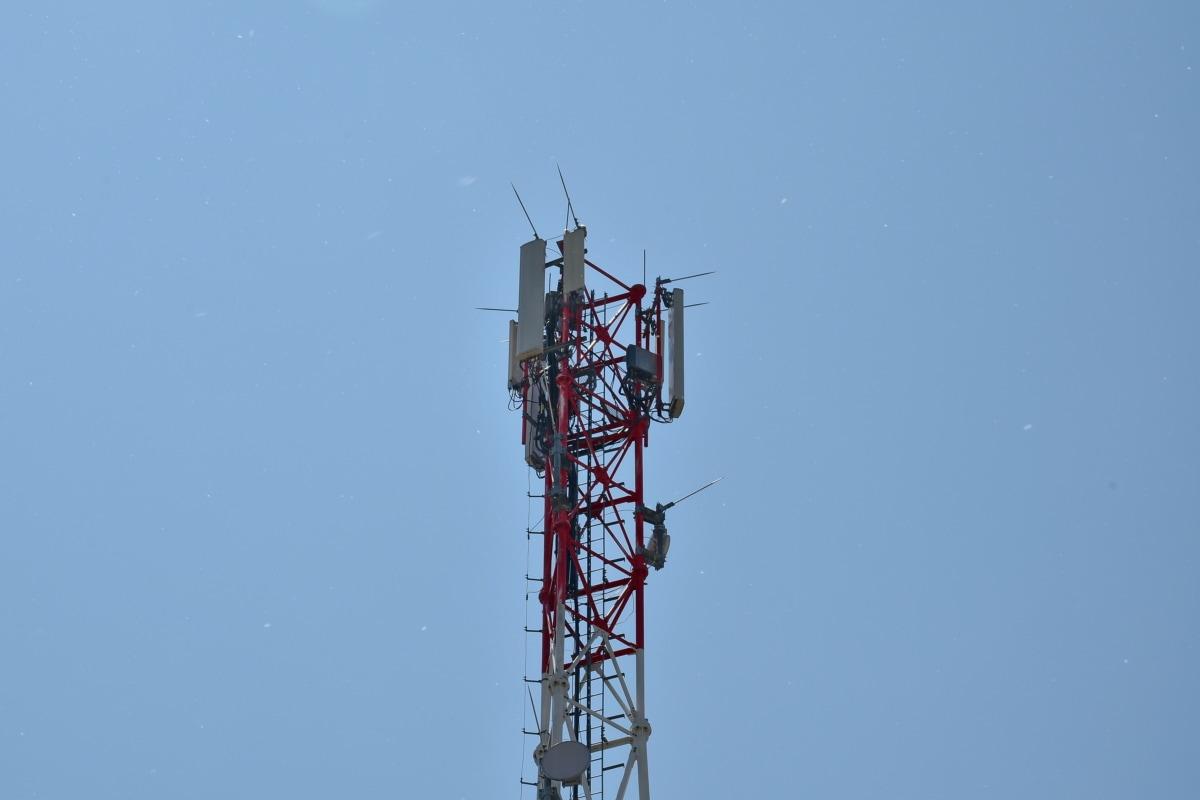 通信, 无线电天线, 无线电接收机, 电力, 高, 电缆, 行业, 天线, 塔, 技术