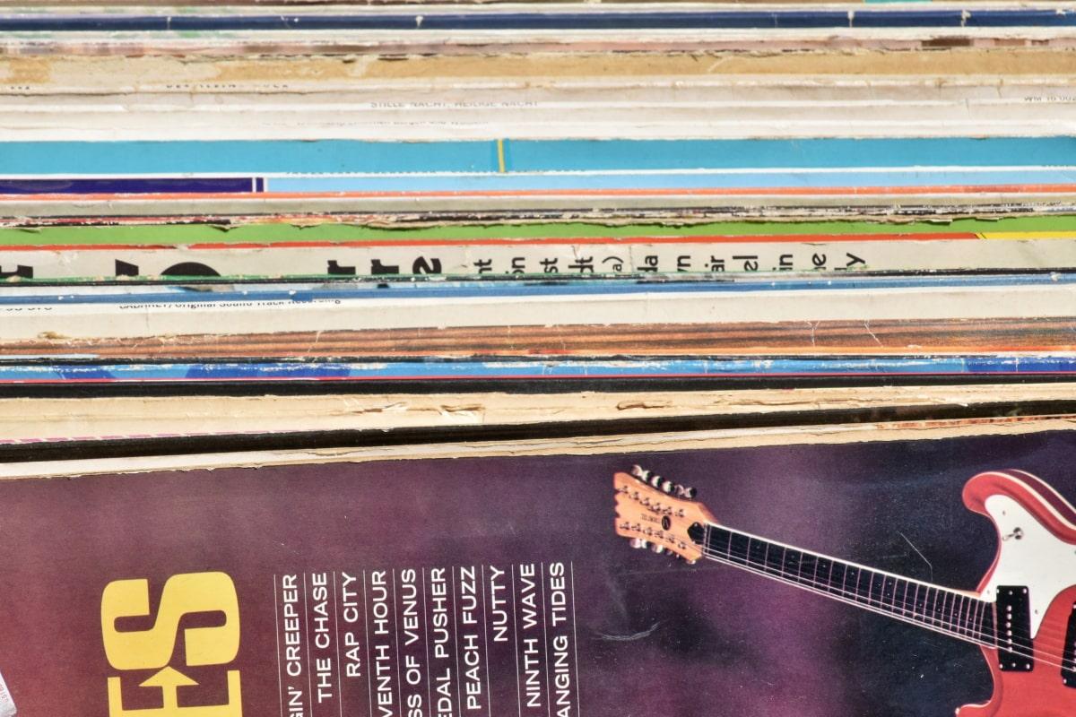 Melodie, Klang, Vinyl, Musik, Kunst, Text, Abbildung, im freien, Papier, Farbe