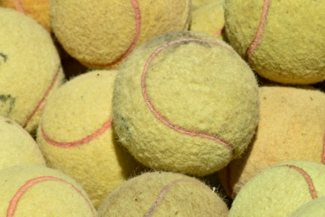 ball, details, tennis, equipment, upclose, color, pile, game, sport, round