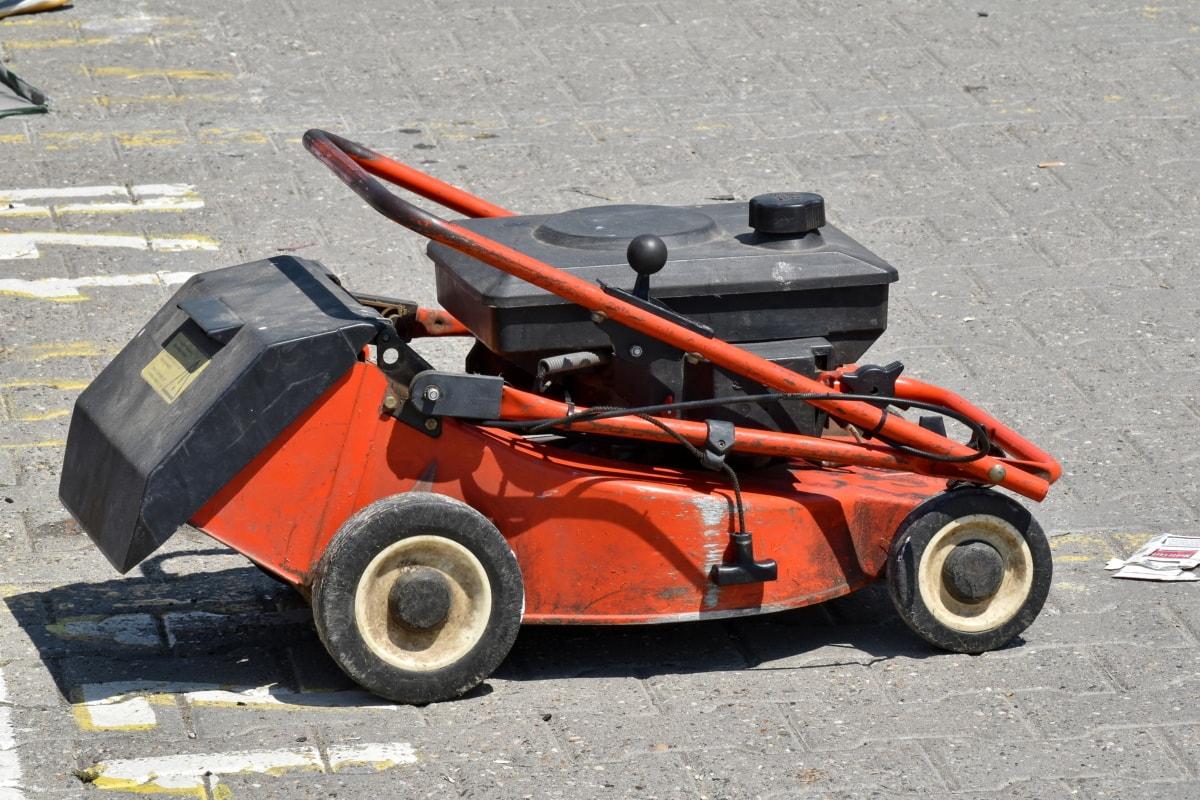 asfalt, diesel, Motor, grasmaaier, machine, weg, band, gereedschap, motor, technologie