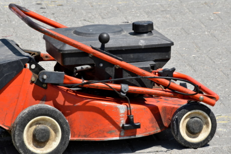 lawnmower, machine, vehicle, tool, drive, engine, wheel, road, outdoors, tire