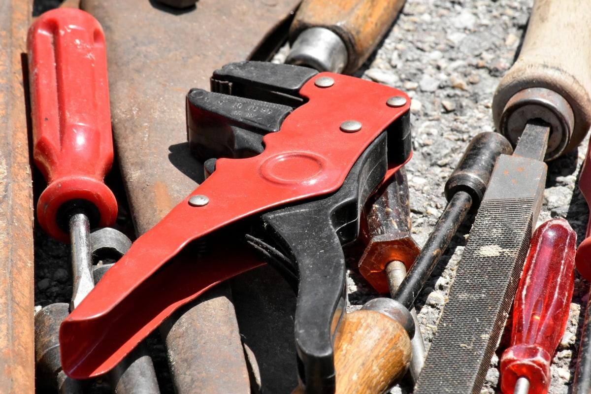 クラフト フェア, 手のひらツール, ペンチ, 修理, スクリュー ドライバー, ツール, 鉄, 鋼, 備品, 古い