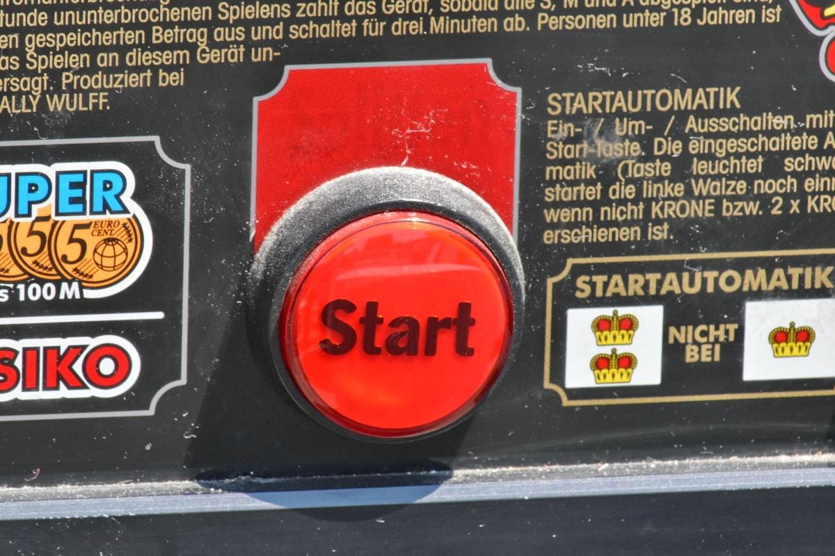 düğme, Kırmızı, Başlat, Uyarı, iş, metin, tehlike, işareti, yol, Acil durum