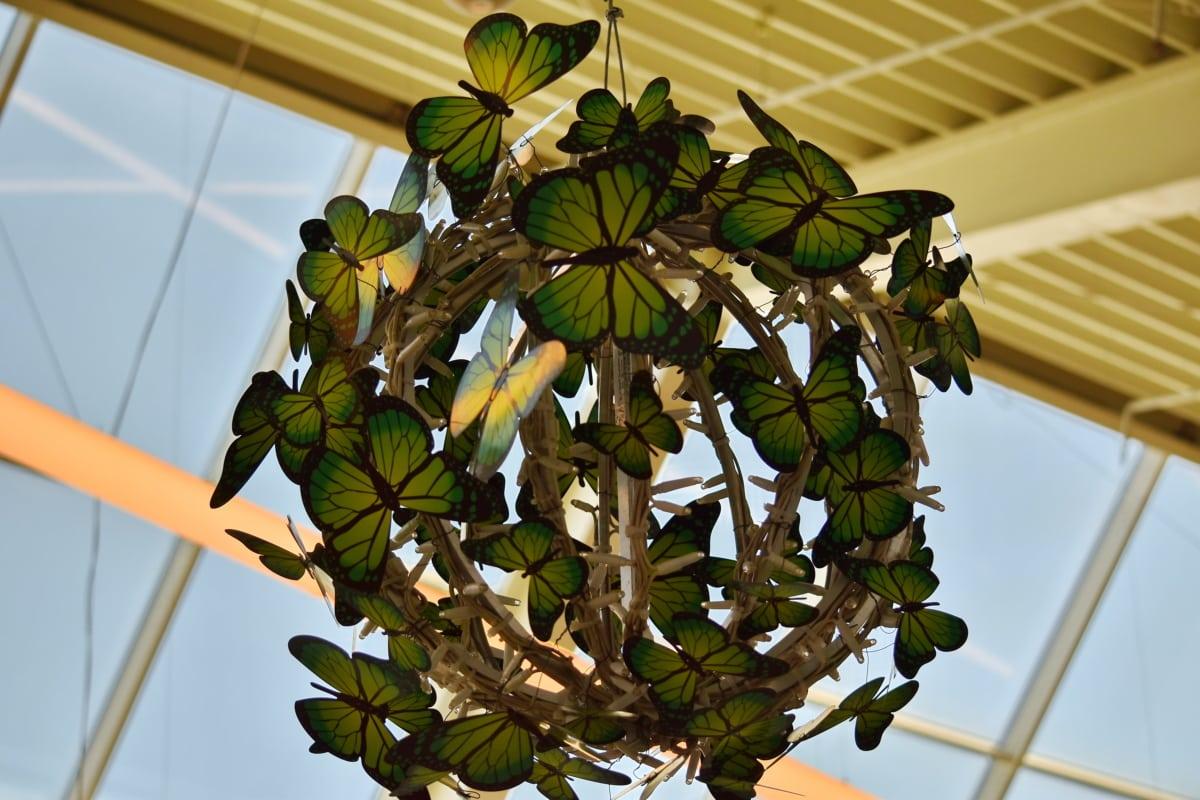 fjäril, dekoration, inredning, lampan, glödlampa, träd, naturen, Utomhus, dagsljus, blomma