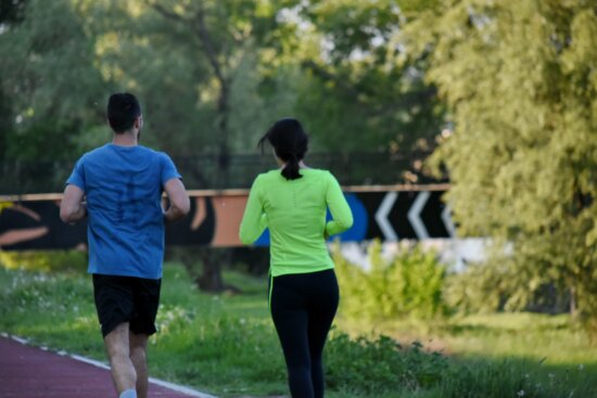 athlete, people, runner, running track, together, sport, park, person, recreation, leisure