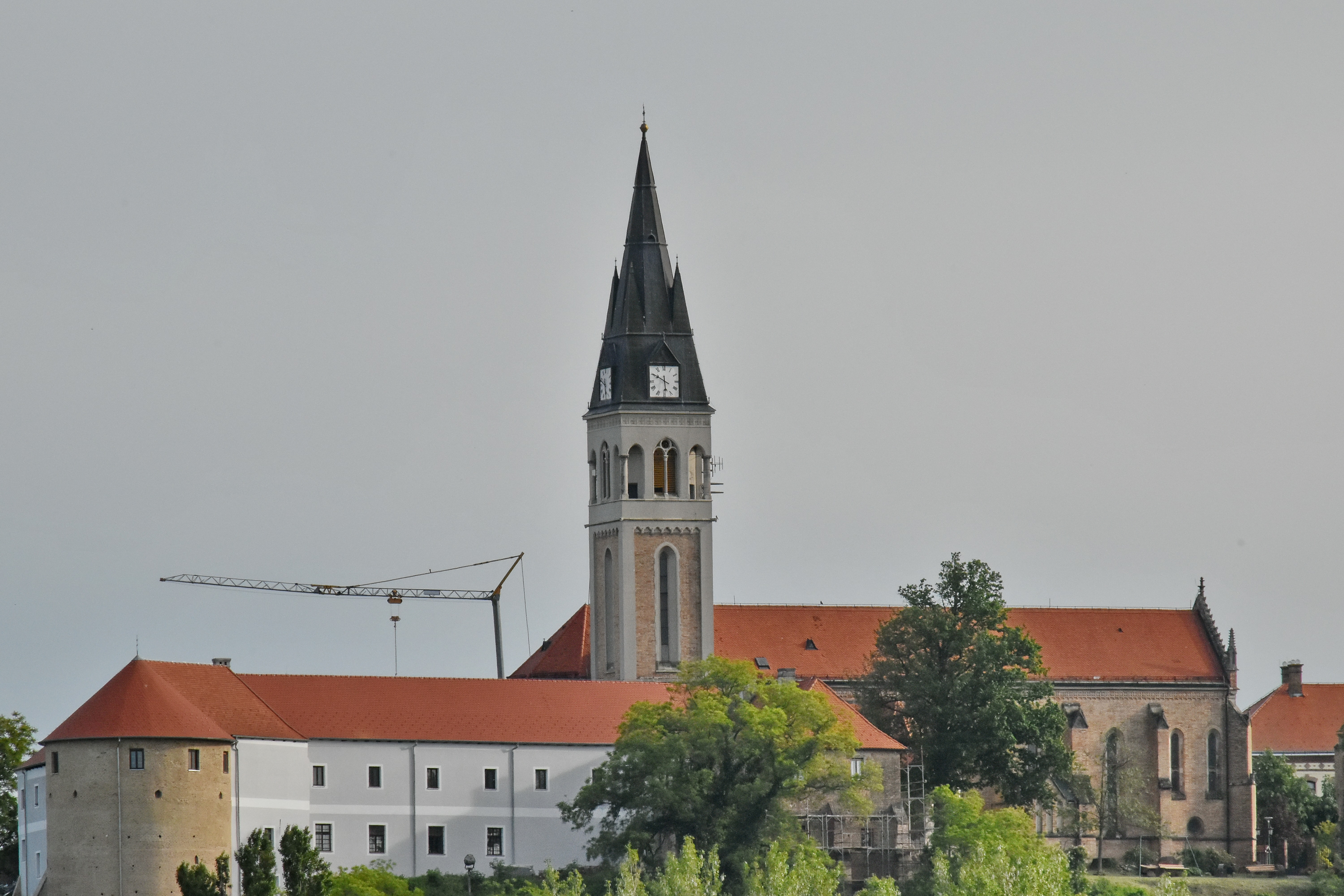 Free picture: castle, church tower, Croatia, gothic