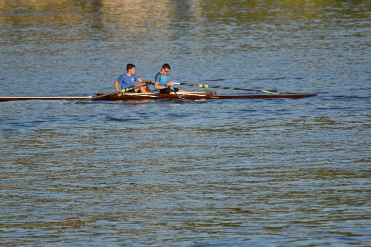 boys, sport, boat, river, water, race, competition, vehicle, lake, watercraft