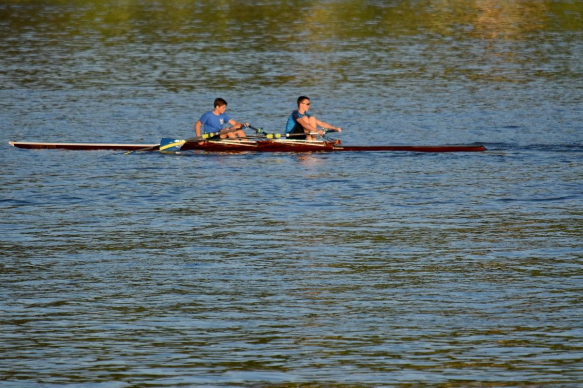 urheilija, mestaruus, Airo, vesi, vene, kanootti, joki, rotu, kilpailu, järvi