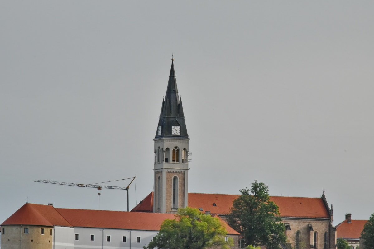 castle, church tower, Croatia, architecture, cathedral, tower, church, building, outdoors, religion