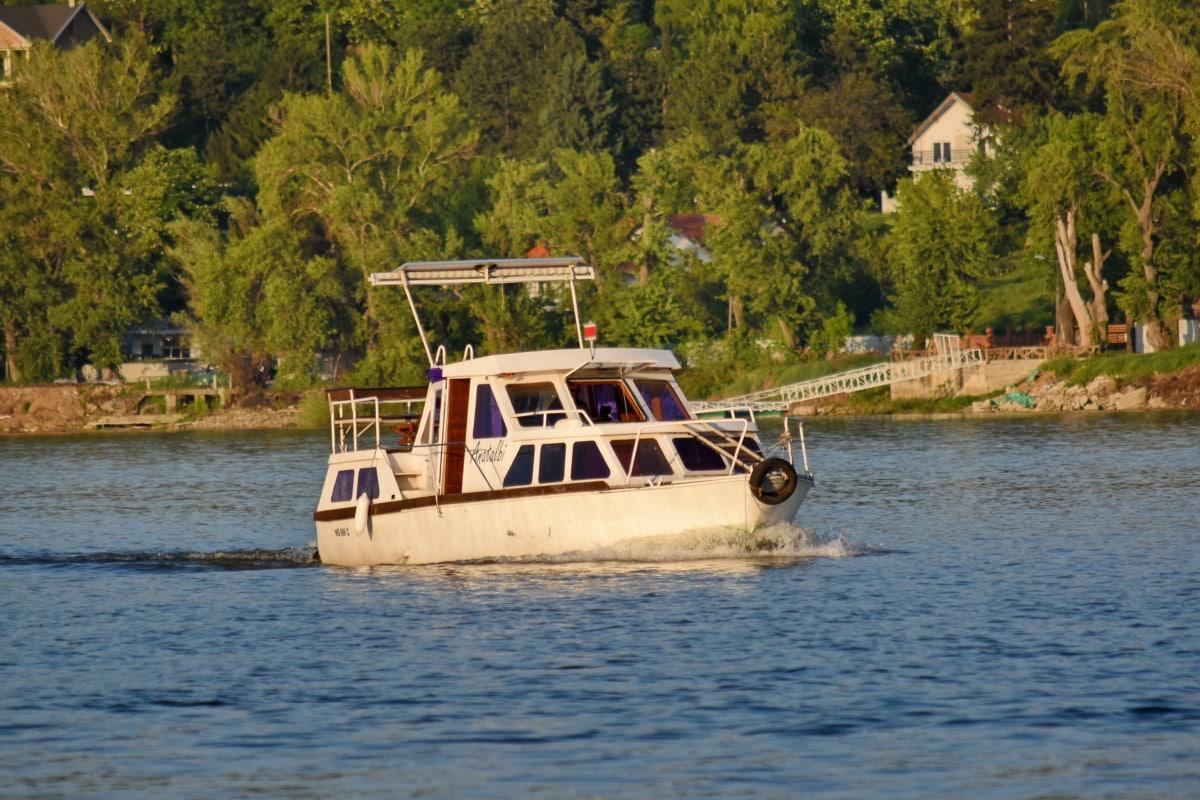 rybár, rybársky čln, more, voda, loďou, loď, vozidlo, vodné skútre, rieka, jazero