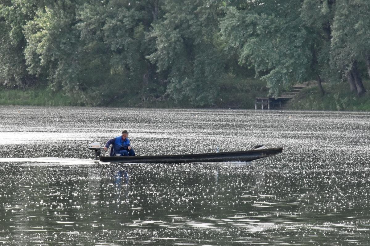 ชาวประมง, คน, น้ำ, เรือ, แม่น้ำ, บริการเรือ, สันทนาการ, ยานพาหนะ, ทะเลสาบ, การดำเนินการ