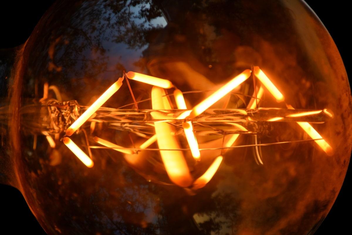 detail, light bulb, light, heat, luminescence, dark, abstract, art, hot, design