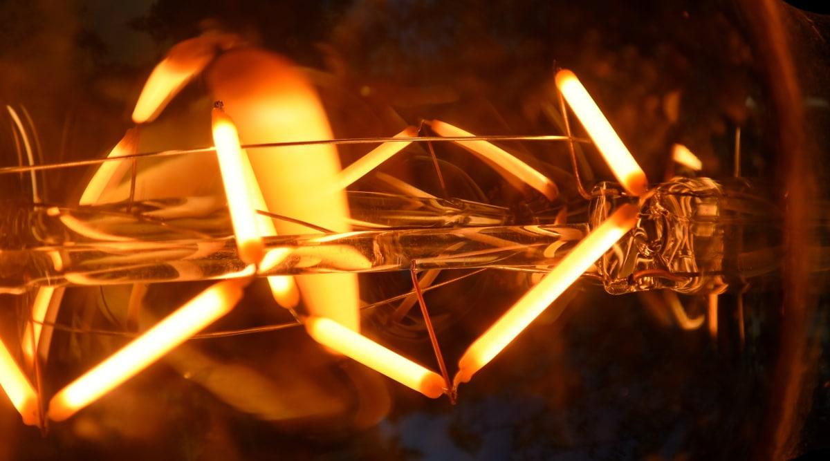 flare, lampadina, Scuro, sfocatura, luminescenza, illuminato, luce, decorazione, tenebre, Dettagli