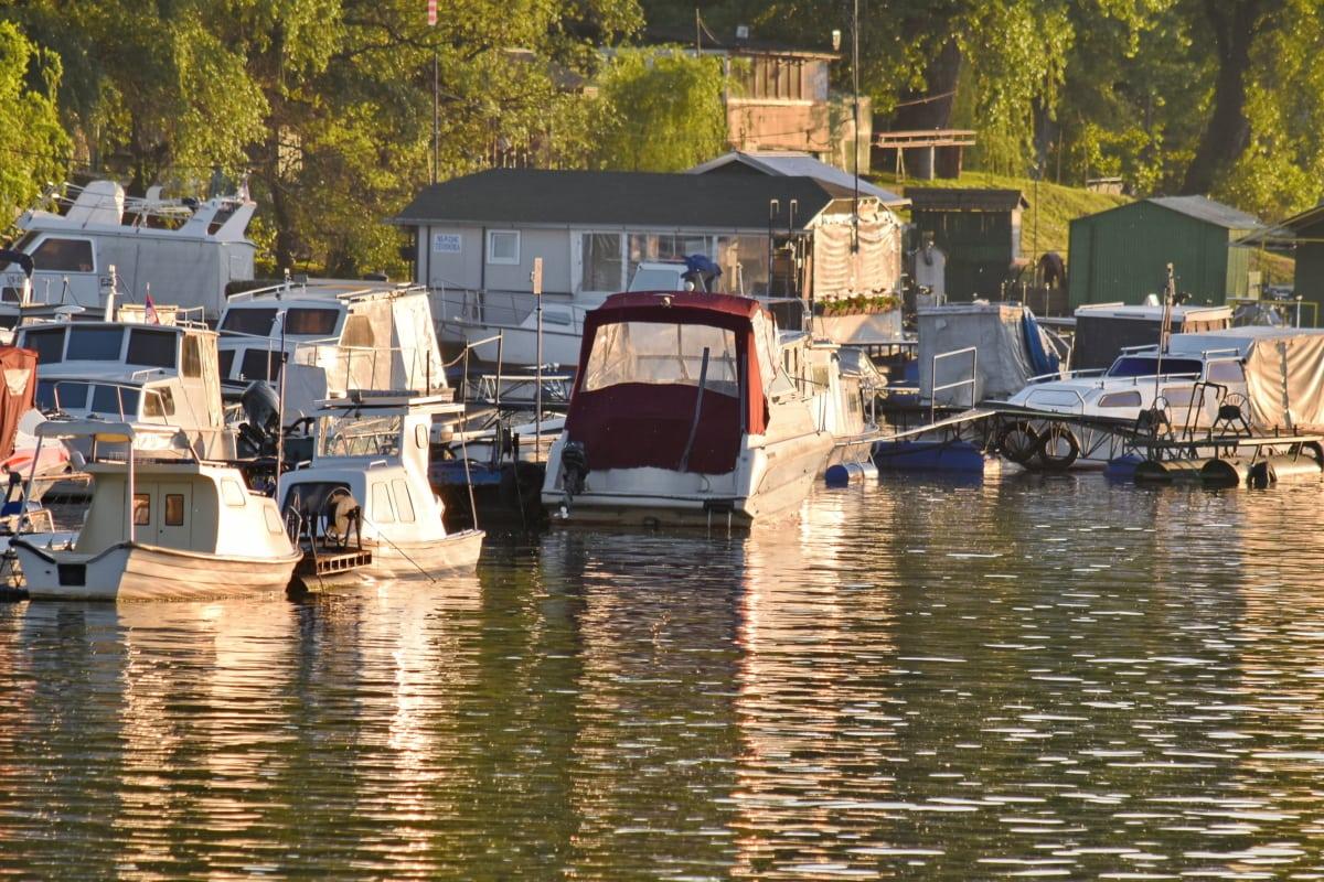 水, 构建, 船, 船, 棚, 车辆, 船舶, 河, 反射, 户外活动