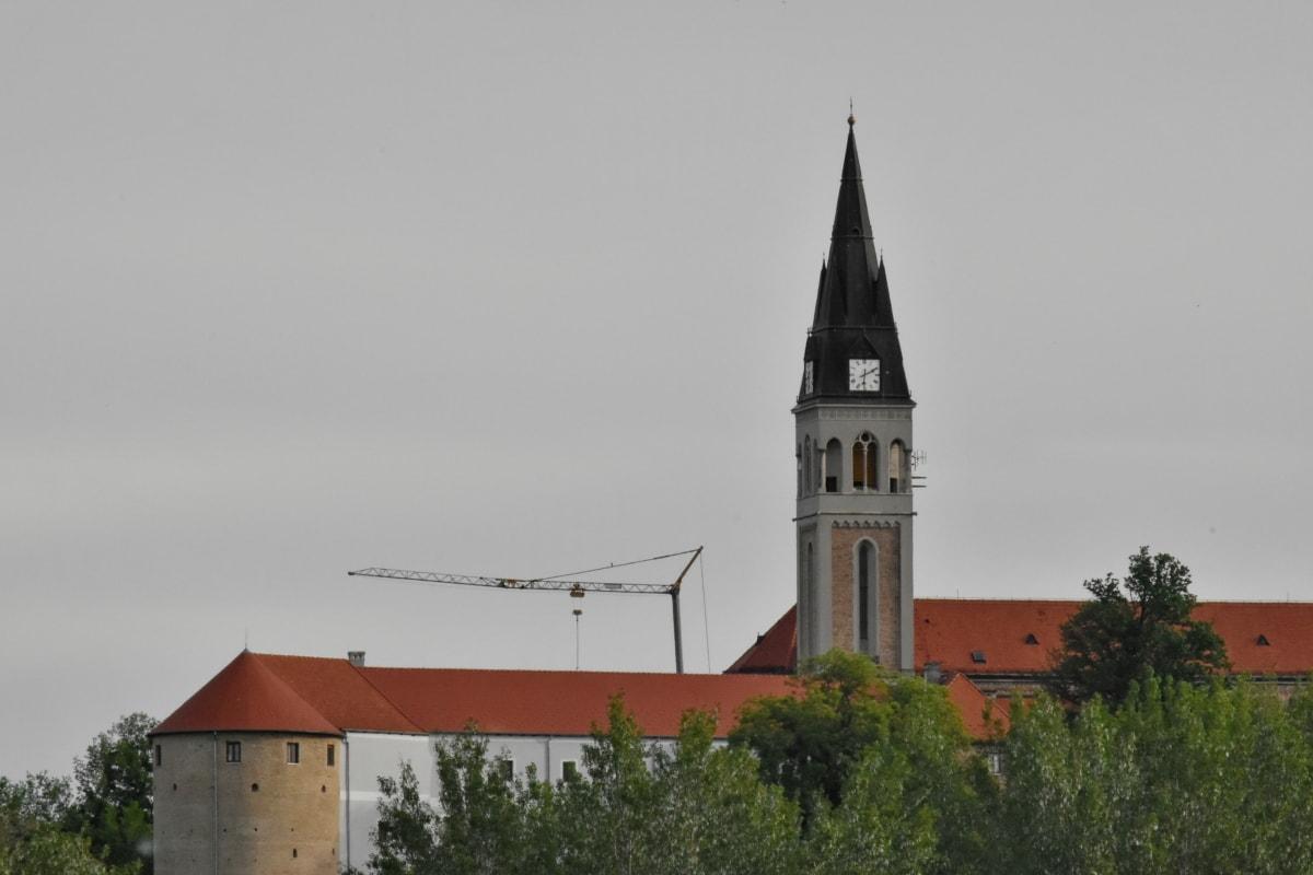 Церква, вежа, Будівля, монастир, Архітектура, на відкритому повітрі, Денне світло, Старий, Релігія, дерево