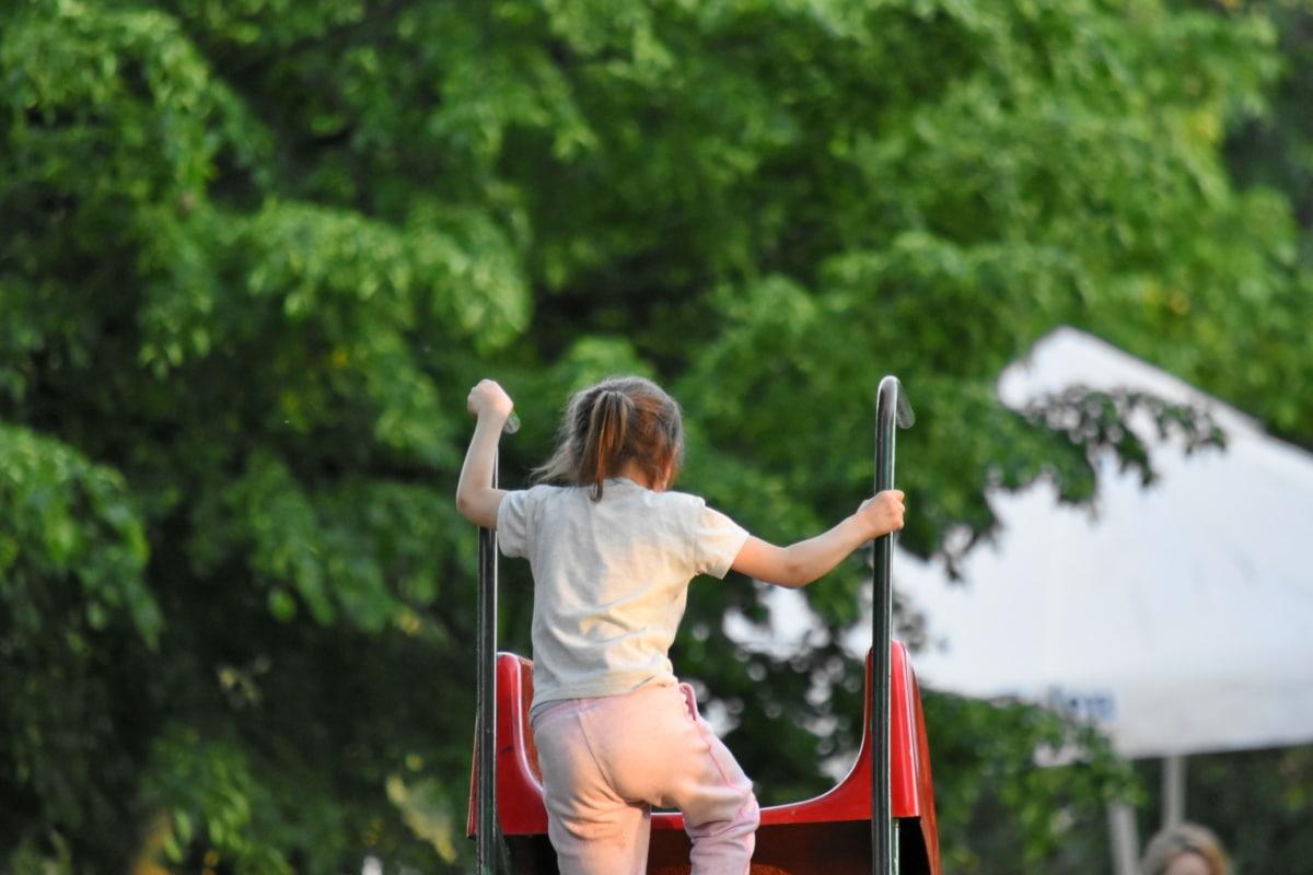 figlio, giocoso, Parco giochi per bambini, dispositivo di scorrimento, Parco, tempo libero, estate, per il tempo libero, ricreazione, divertimento