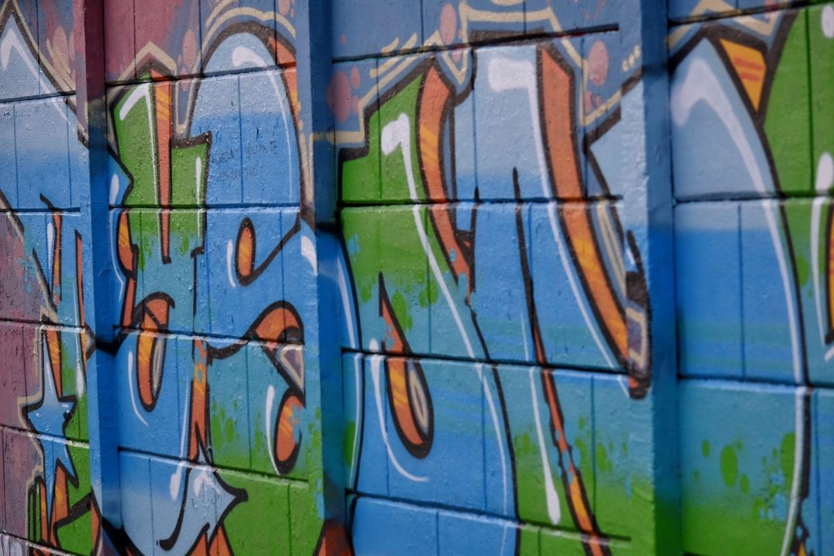 decoration, vandalism, wall, graffiti, airbrush, spray, painting, mural, color, art